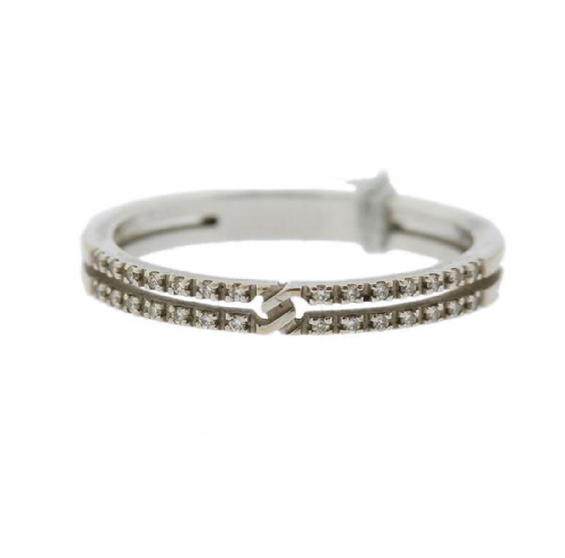 Gucci 18k Gold Diamond Band Ring