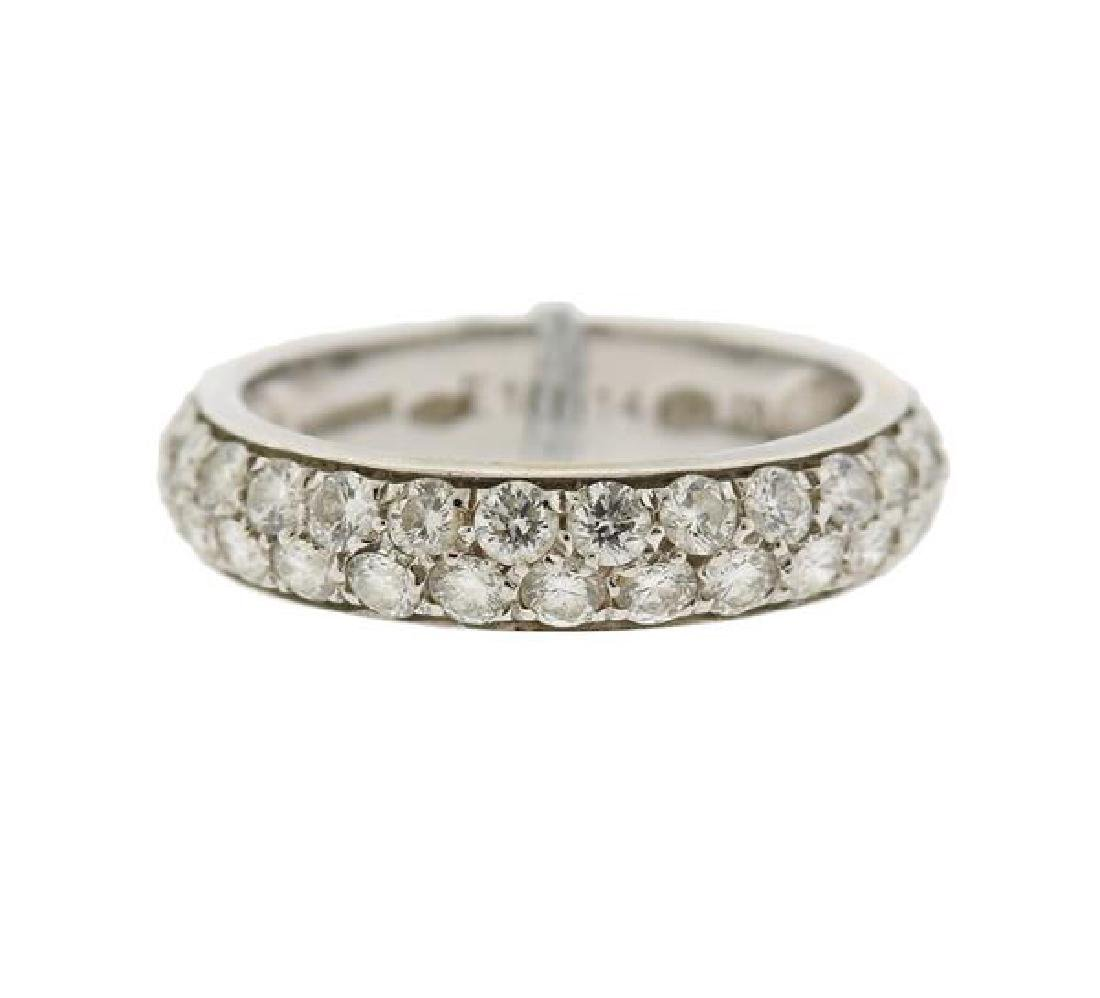 Boucheron 18k Gold Diamond Wedding Band Ring