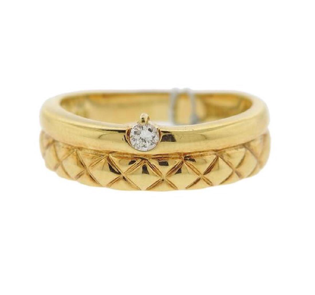 Celine 18k Gold Diamond Band Ring