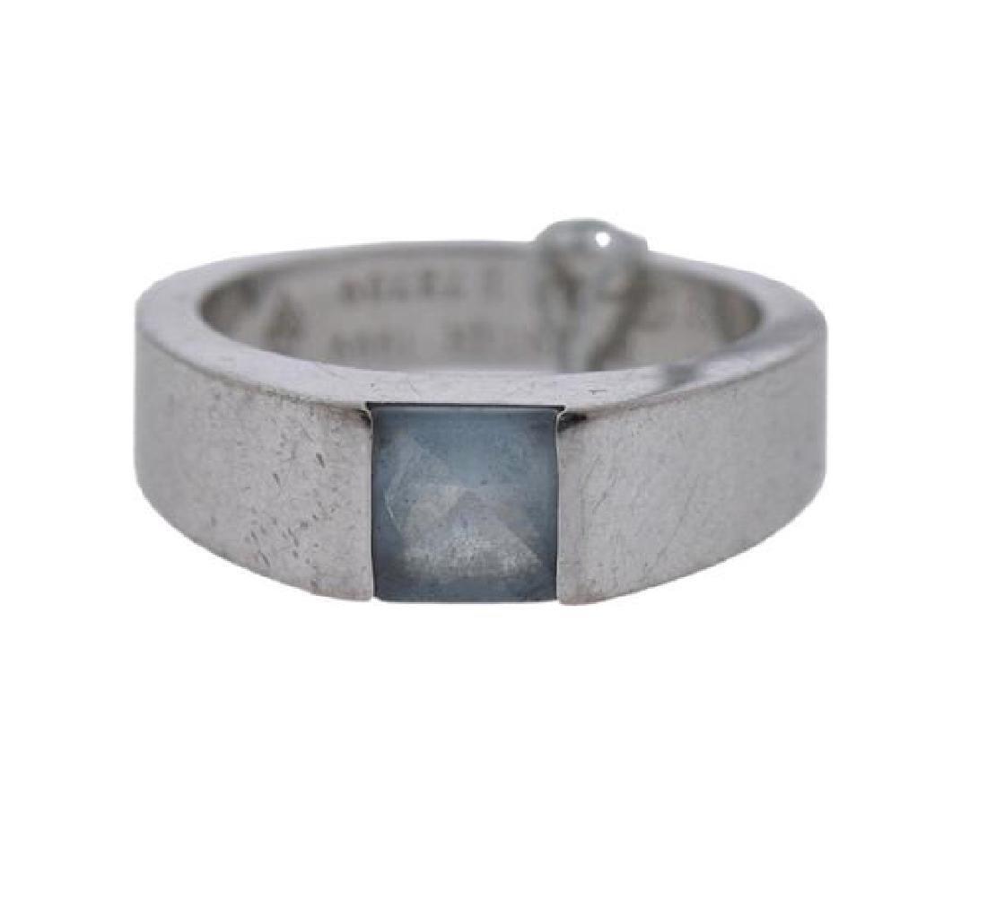Cartier Tank 18k Gold Blue Topaz Ring