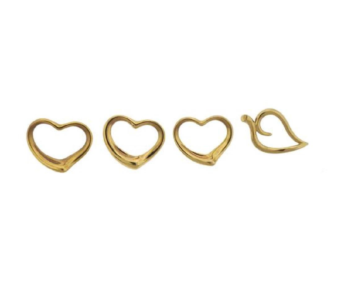 Tiffany & Co 18k Gold  Heart Leaf Pendant Lot