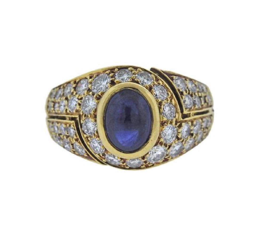 bvlgari bulgari 18k gold diamond sapphire ring
