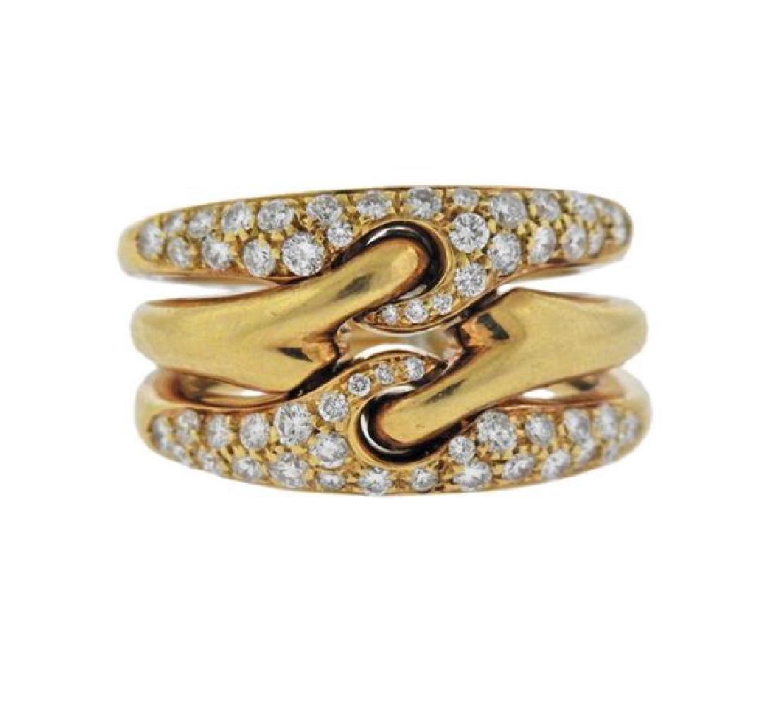bvlgari bulgari 18k gold diamond ring