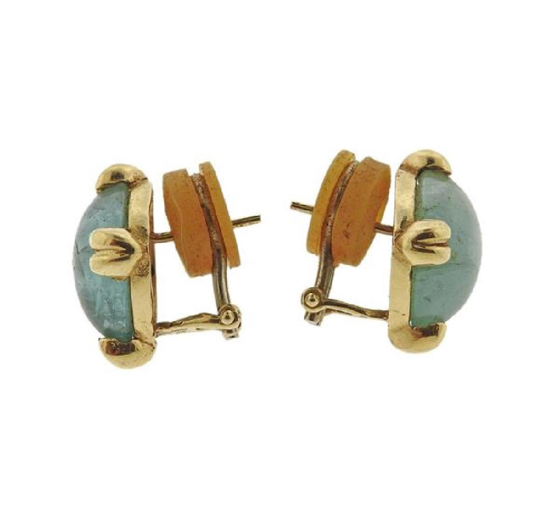 14K Gold Aquamarine Earrings - 2