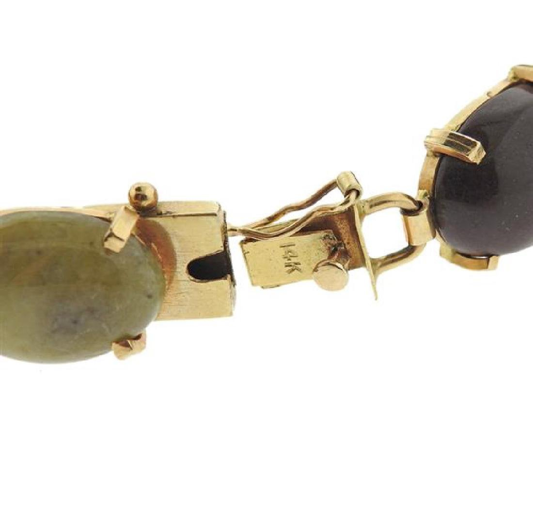 14k Gold Multi Gemstone Bracelet - 4