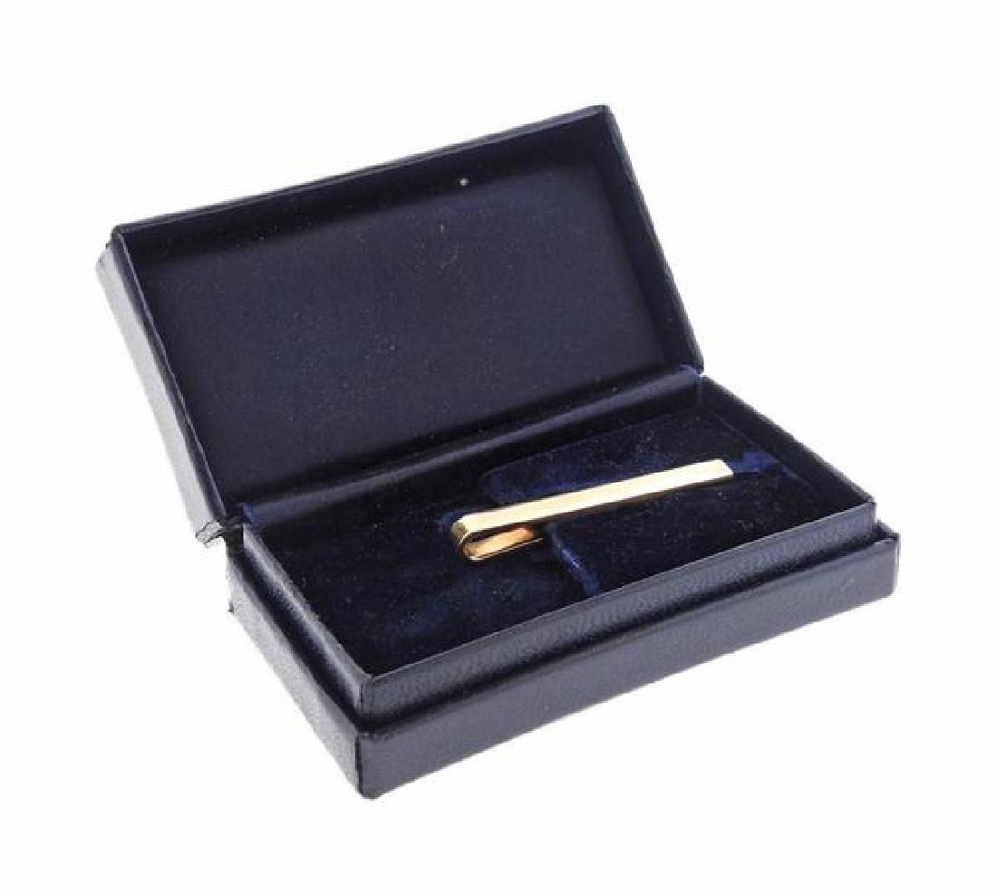 Vintage Tiffany & Co 14K Gold Tie Clip - 4