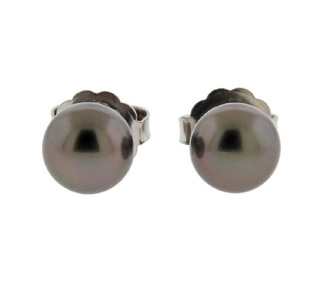 Mikimoto 18K Gold Pearl Earrings