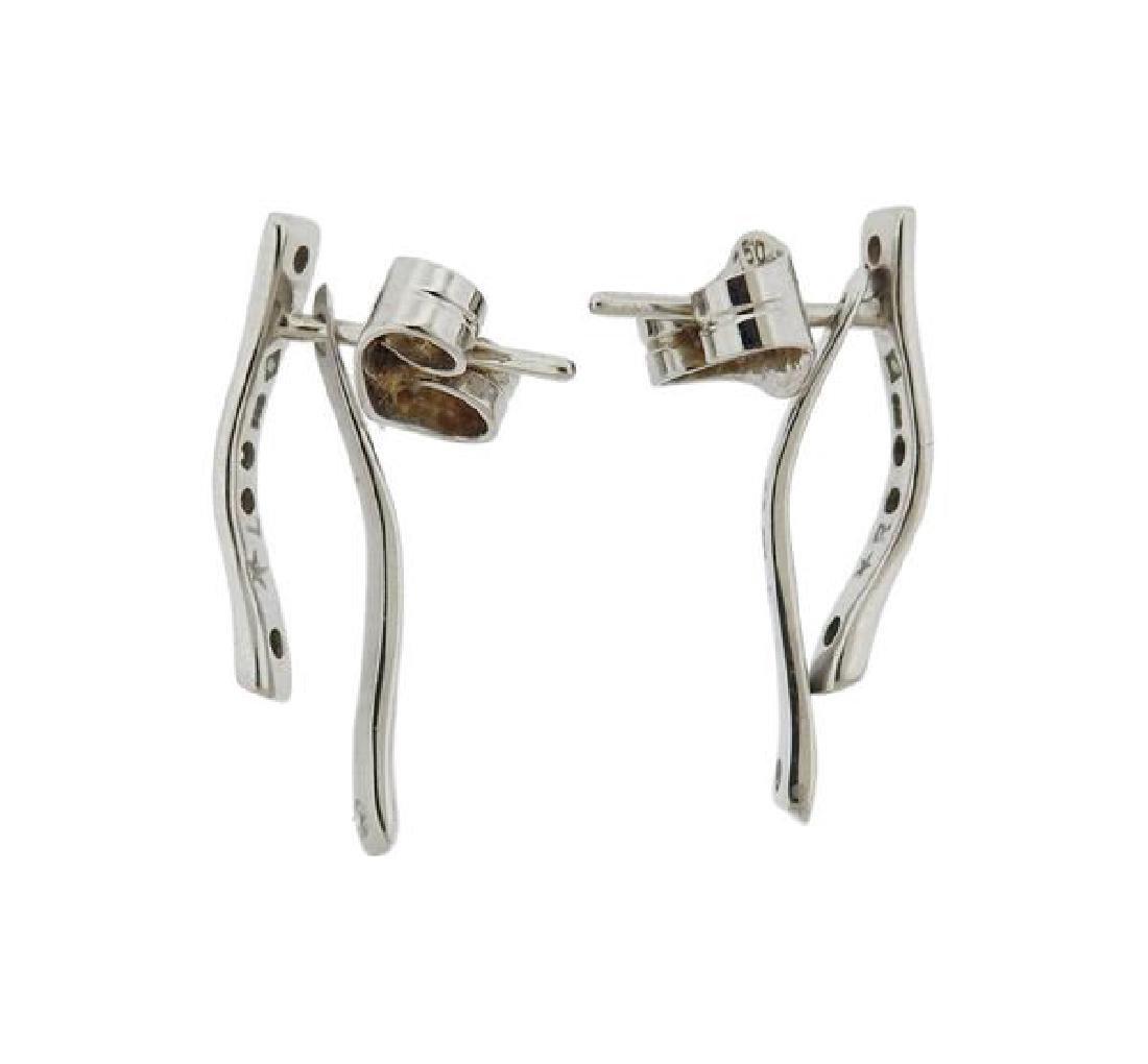 H. Stern 18K Gold Diamond Earrings - 2