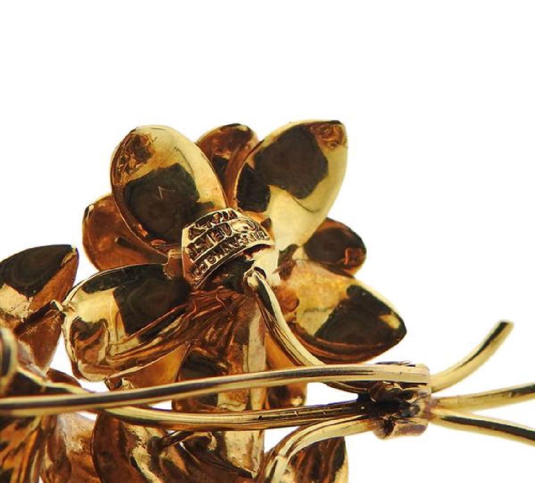 Tiffany & Co 18k Gold Diamond Sapphire Bouquet - 4