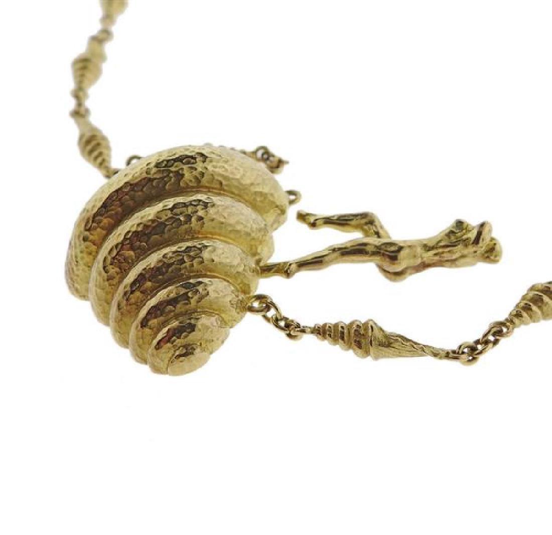 Salvador Dali  18l Gold Mujer Desnuda Subiendo Necklace - 3