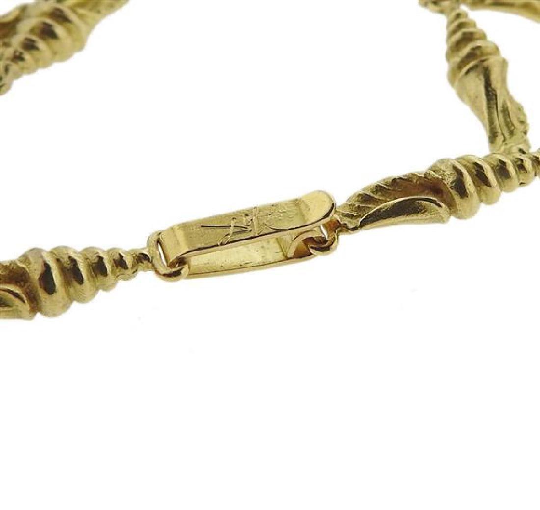 Salvador Dali  18l Gold Mujer Desnuda Subiendo Necklace - 6