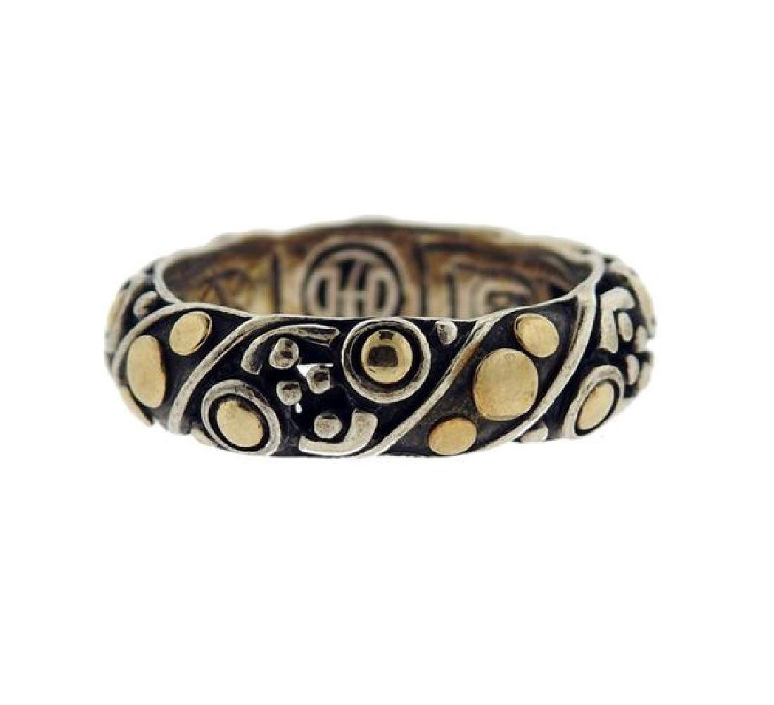 John Hardy Dots 18k Gold Silver Band Ring