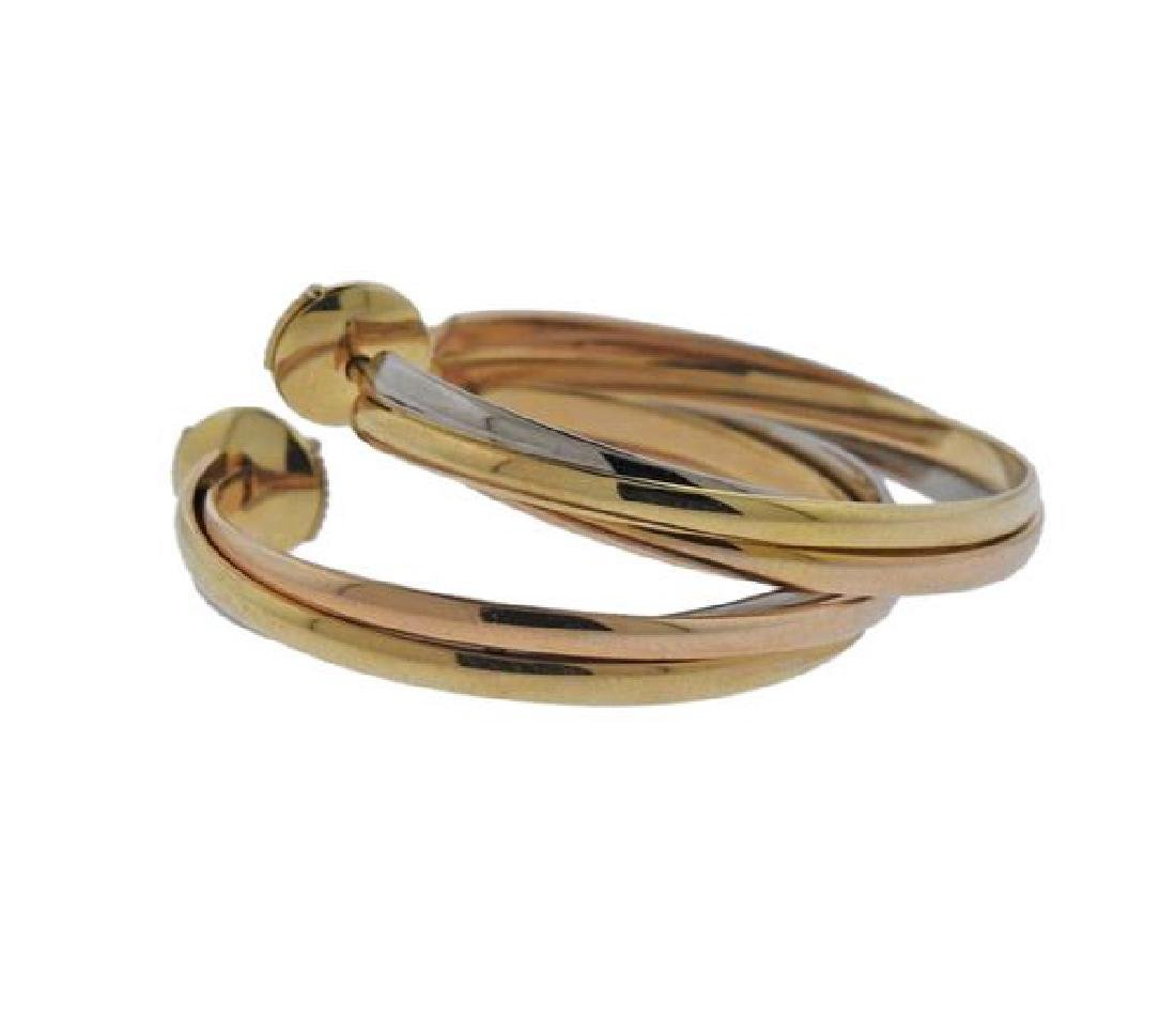 Cartier Trinity 18K Gold Trinity Hoop Earrings