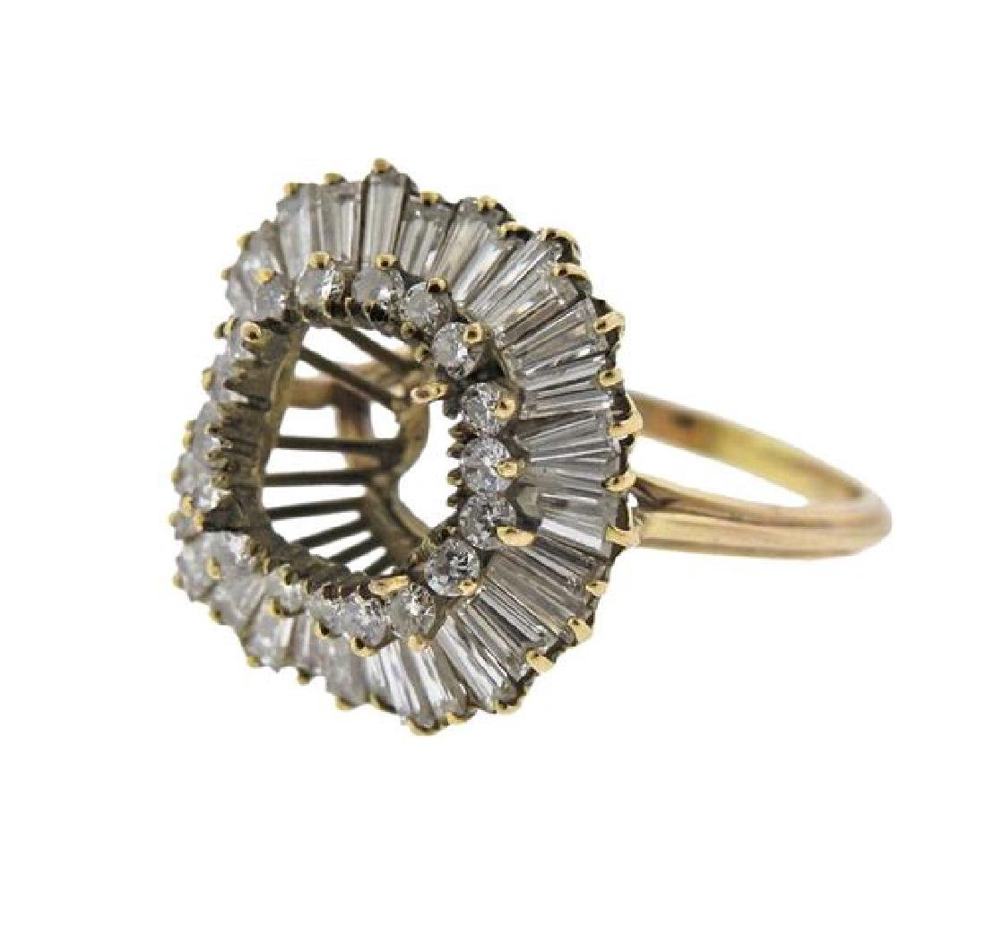 14k Gold Diamond Ring Setting - 2