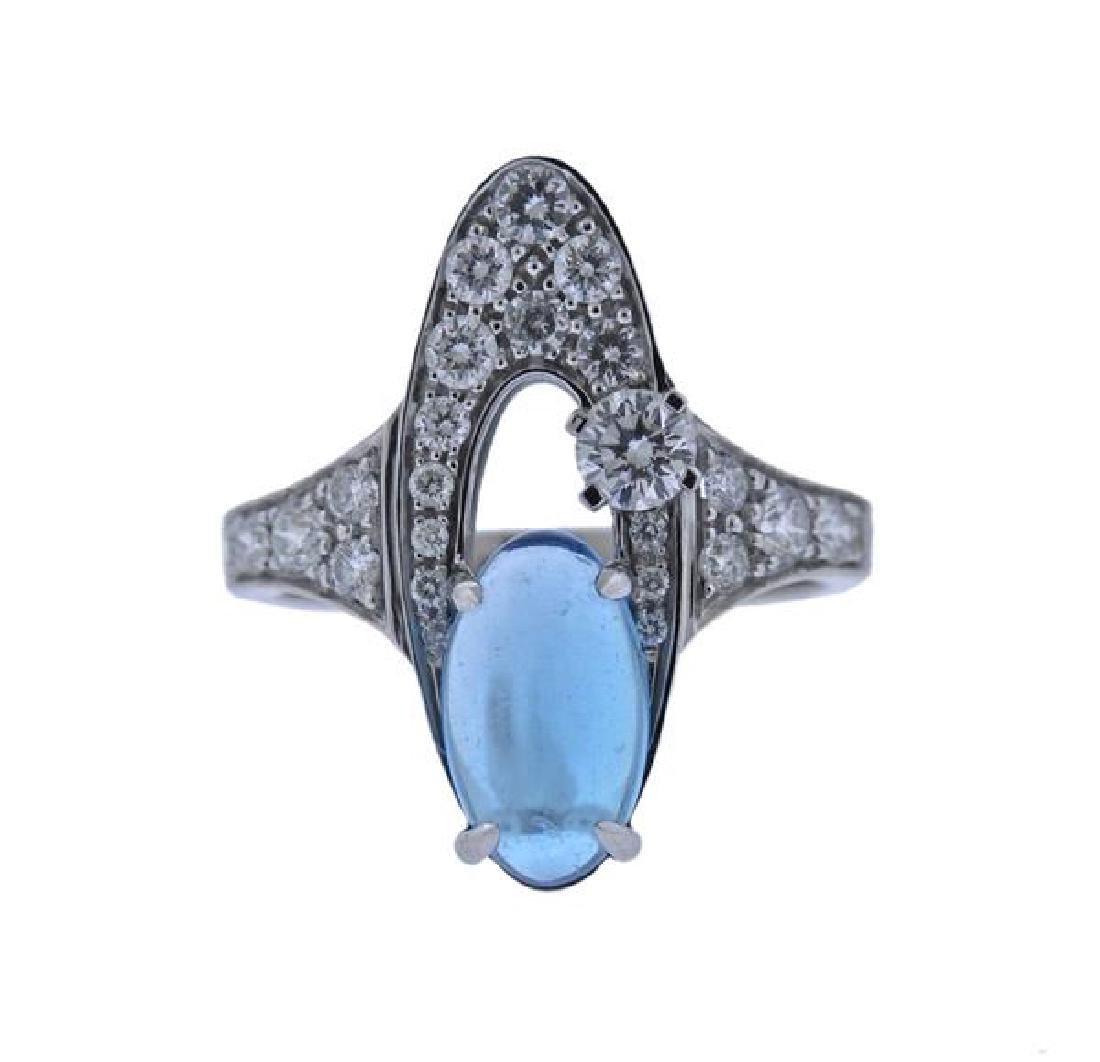 Bulgari Bvlgari Elisia 18K Gold Topaz Diamond Ring