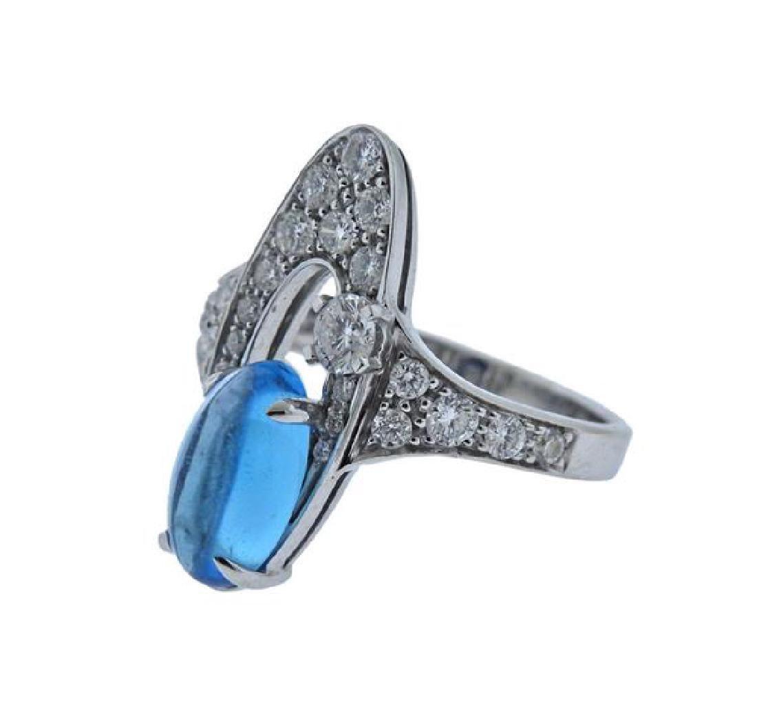 Bulgari Bvlgari Elisia 18K Gold Topaz Diamond Ring - 2