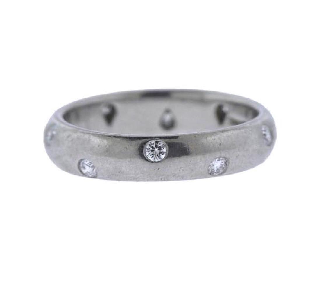 Tiffany & Co. Etoile Platinum Diamond Band Ring