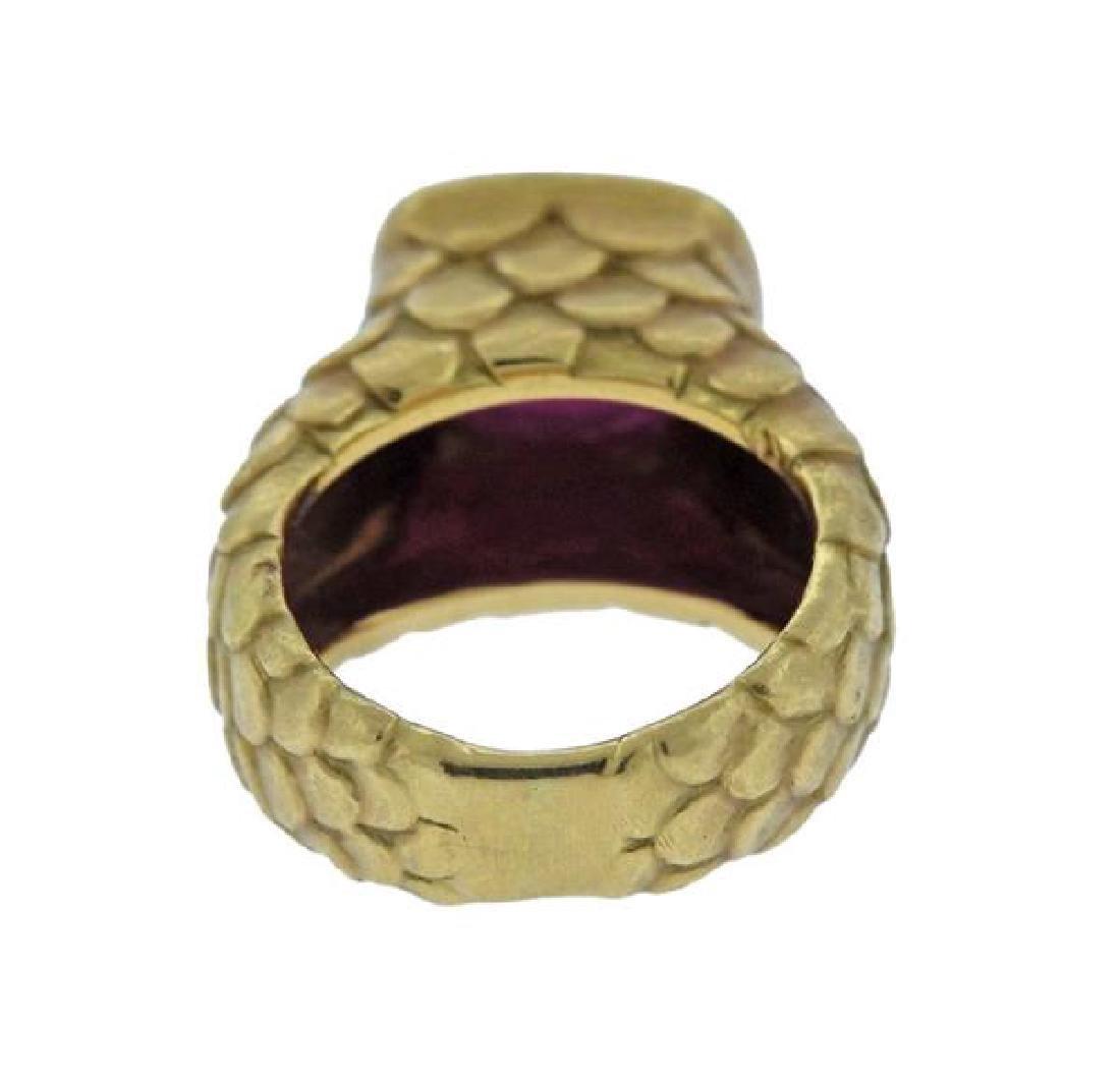Angela Cummings 18k Gold Ruby Fish Scale Ring - 3