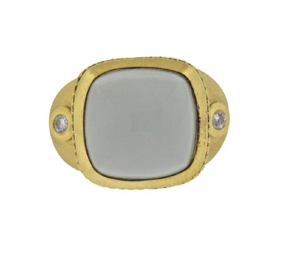Seidengang 18K Gold Athena Aquamarine Diamond Ring