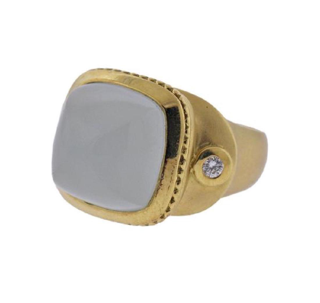 Seidengang 18K Gold Athena Aquamarine Diamond Ring - 2
