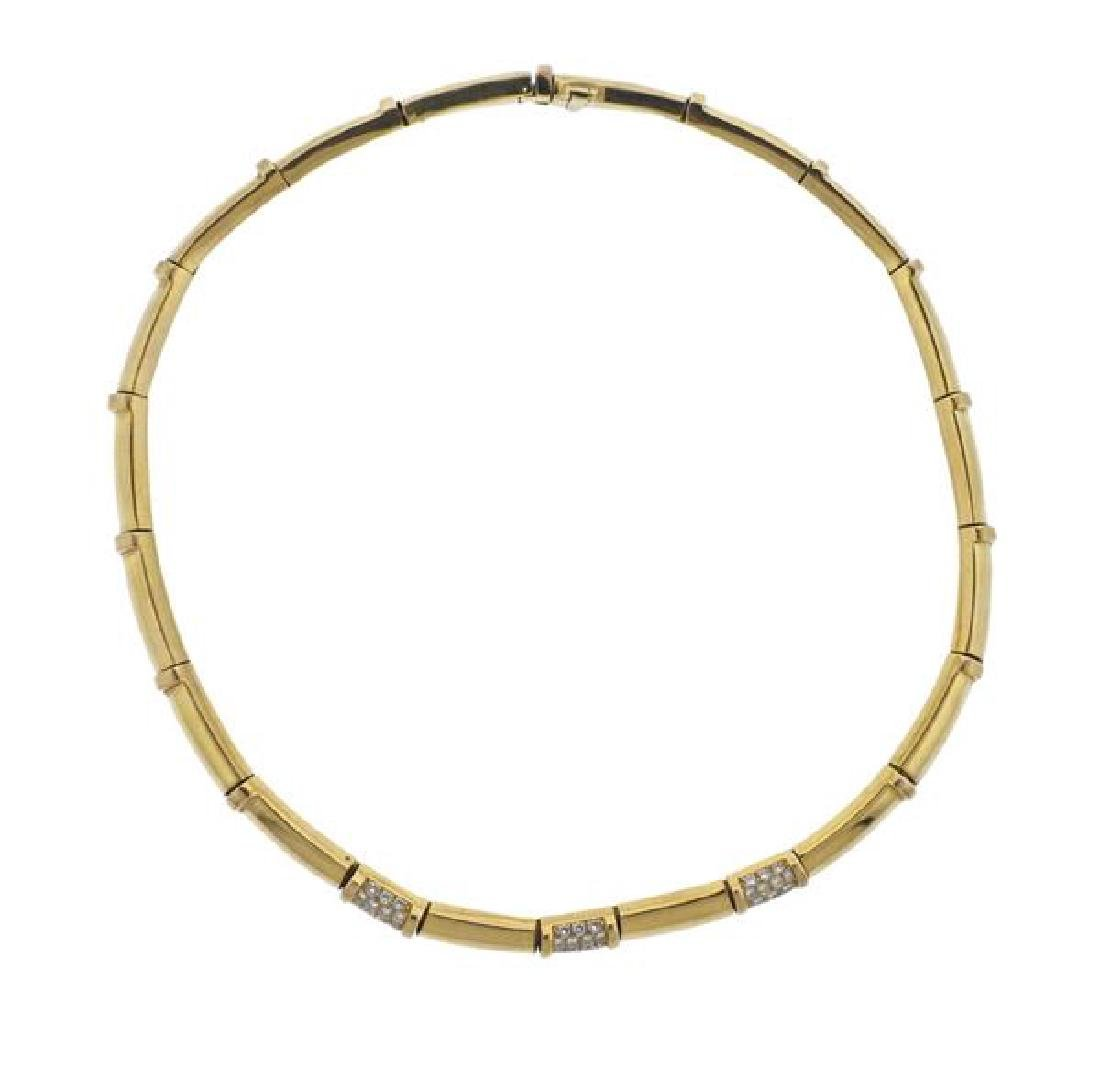 Chaumet 18K Gold Diamond Necklace