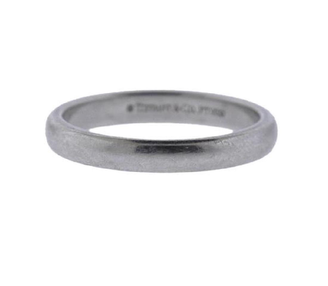 Tiffany & Co Platinum 2.9mm Wedding Band Ring - 2
