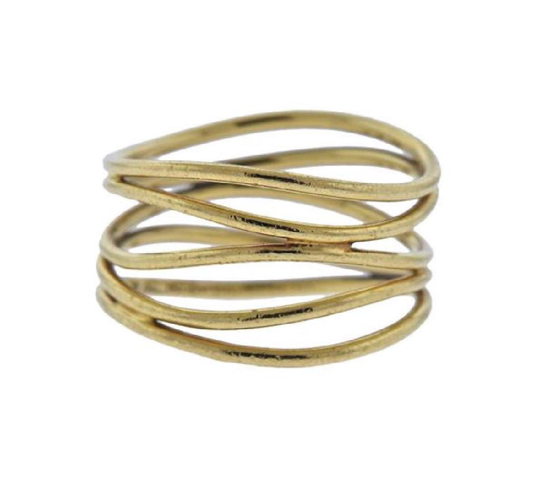 Tiffany & Co. Peretti 18K Gold Wave Band Ring