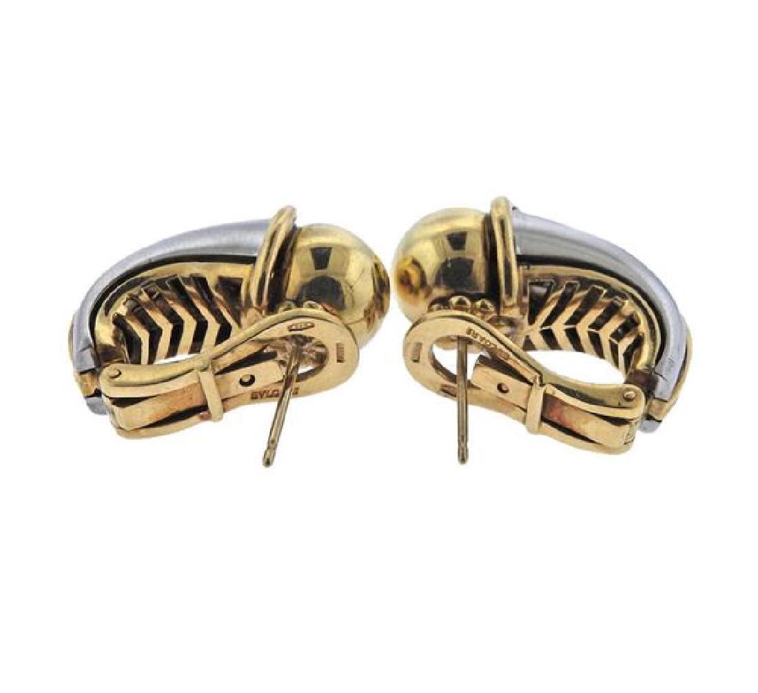 Bulgari Bvlgari 18K Gold Stainless Steel Earrings - 3