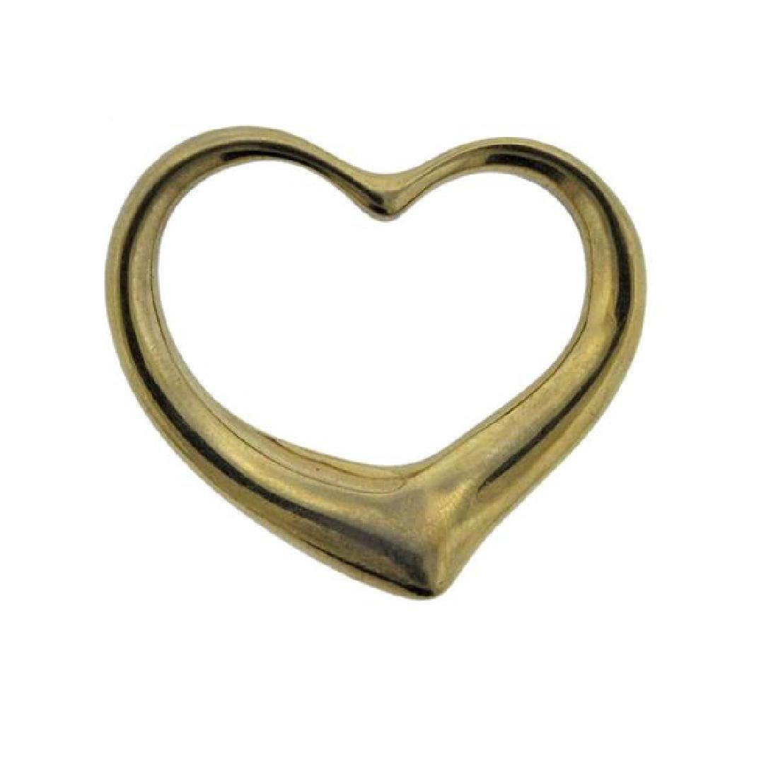 Tiffany & Co Elsa Peretti 18K Gold Open Heart
