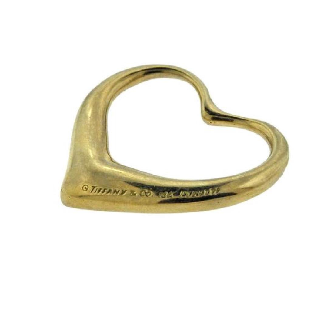 Tiffany & Co Elsa Peretti 18K Gold Open Heart - 3