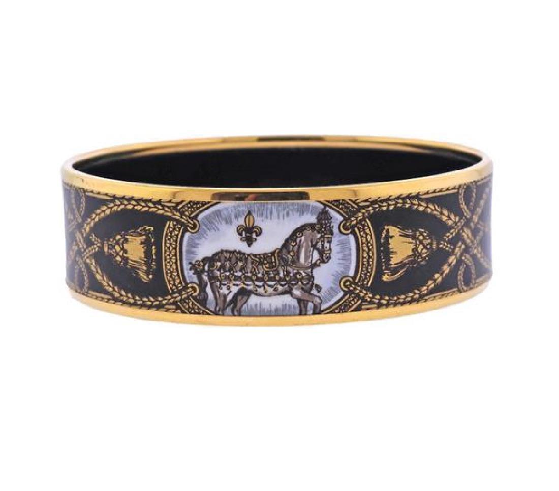 Hermes Grand Apparat Enamel Bangle Bracelet - 2