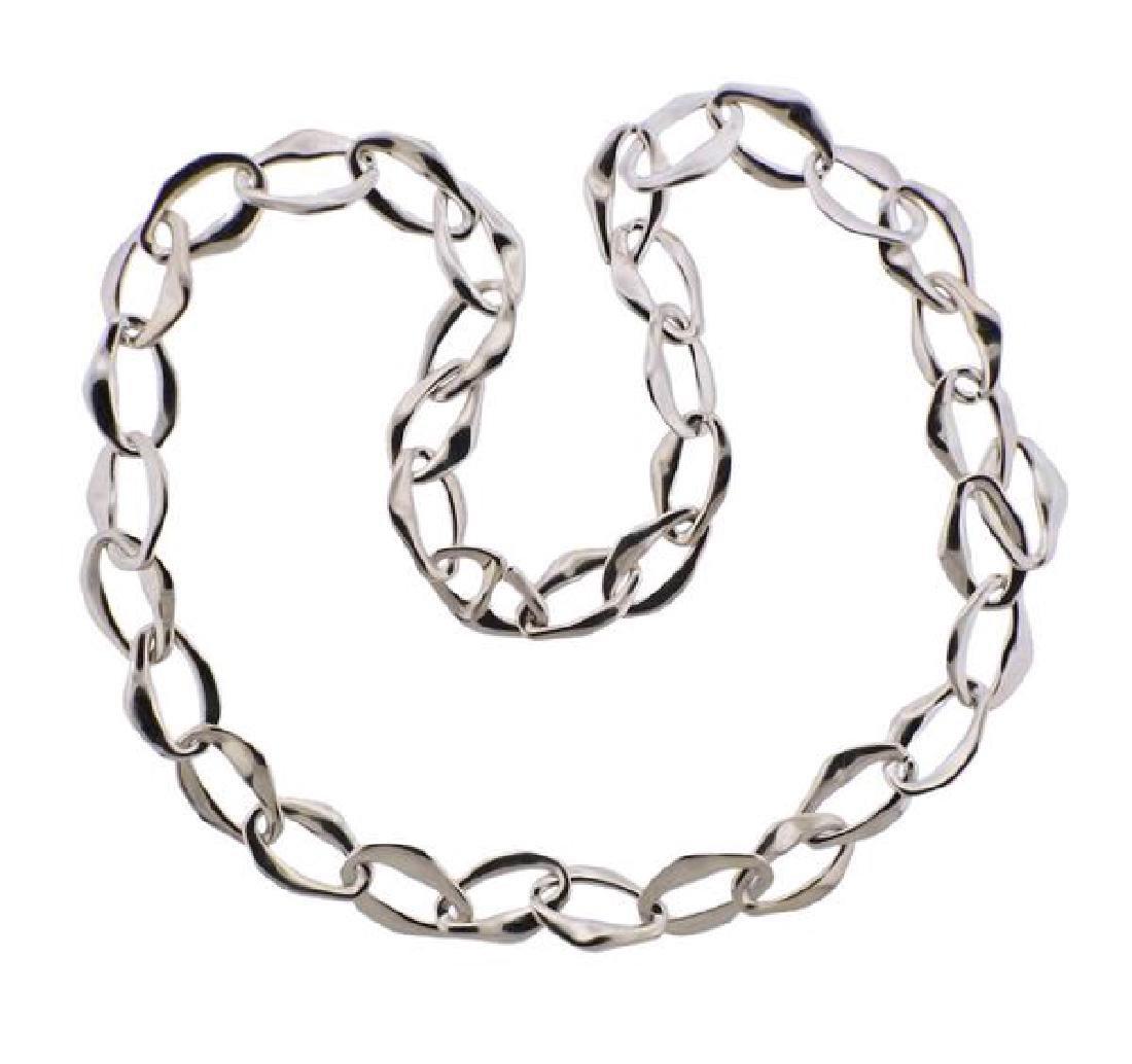 Tiffany & Co Peretti Aegean Silver Link Necklace