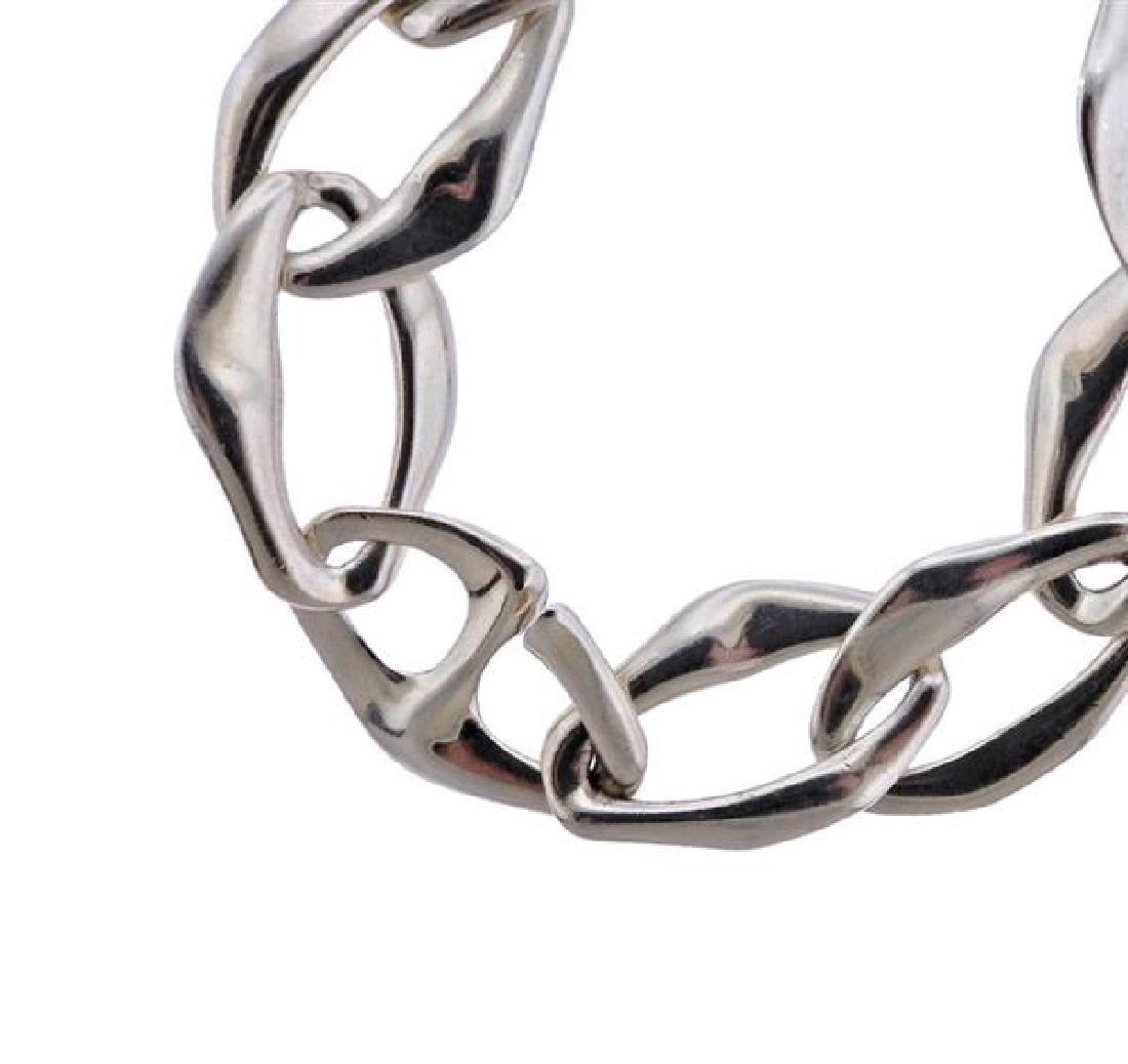 Tiffany & Co Peretti Aegean Silver Link Necklace - 2