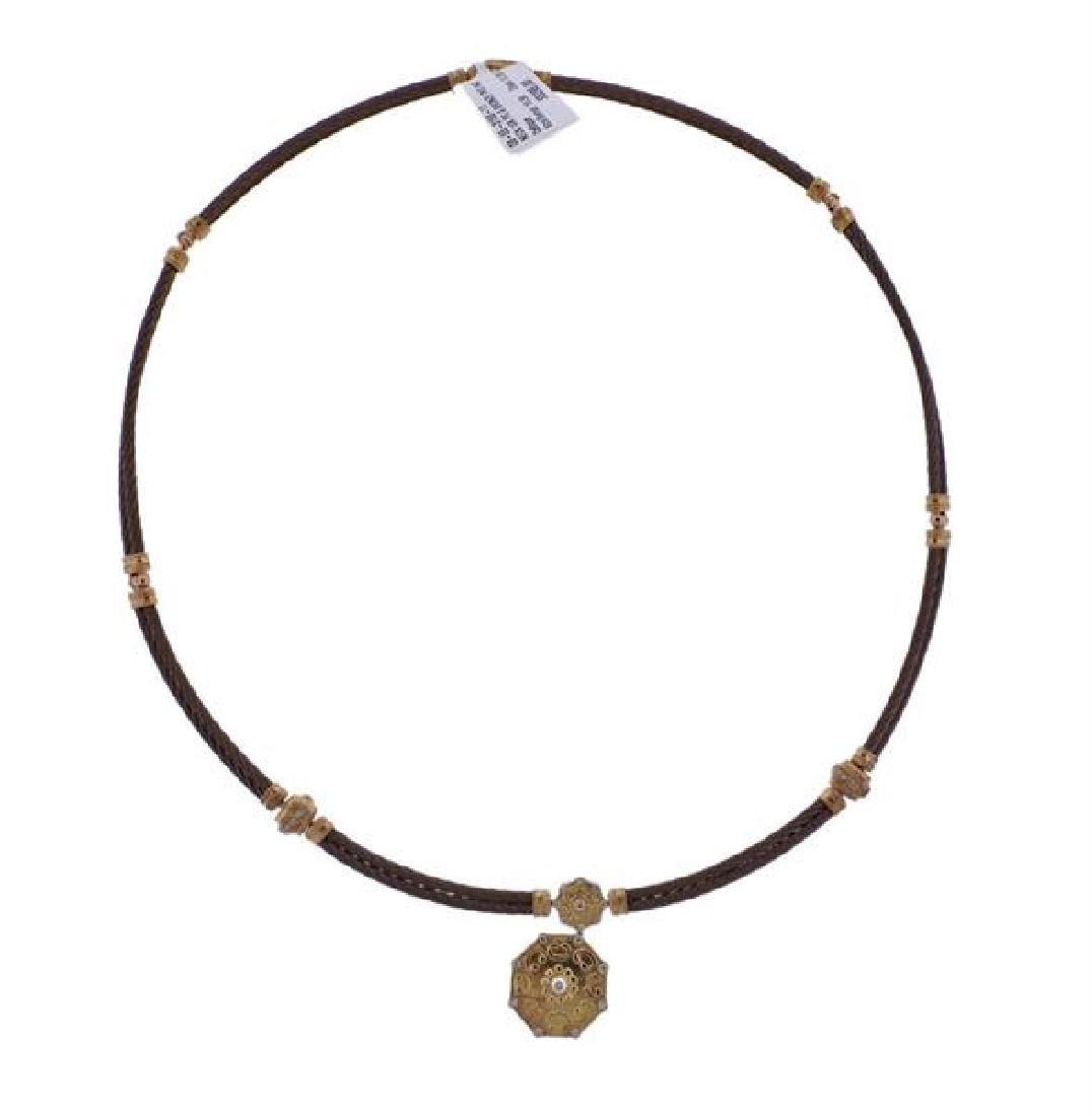 Charriol 18k Gold Bronze Diamond Necklace