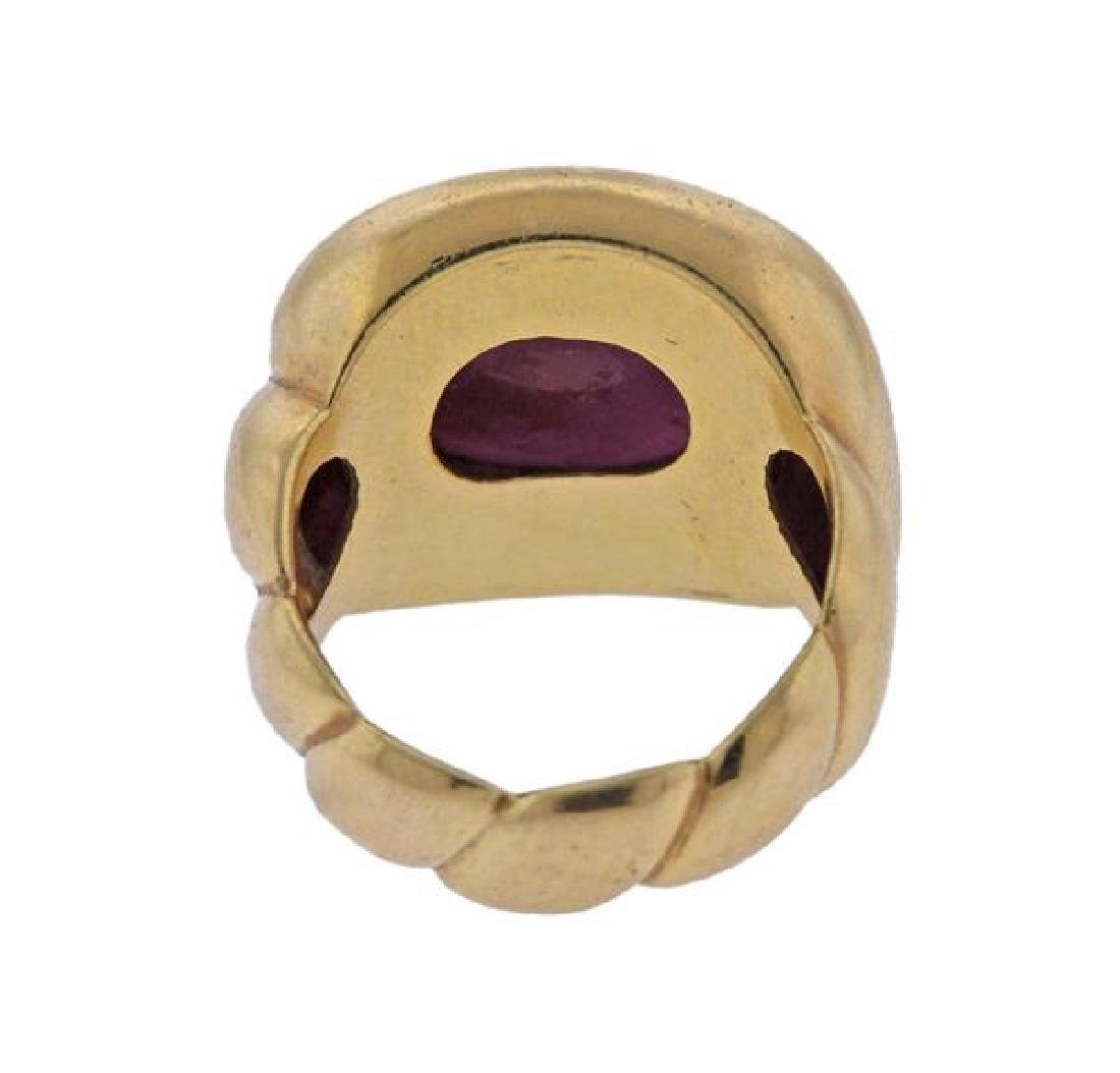 18k Gold 16ct Ruby Cabochon Ring - 3