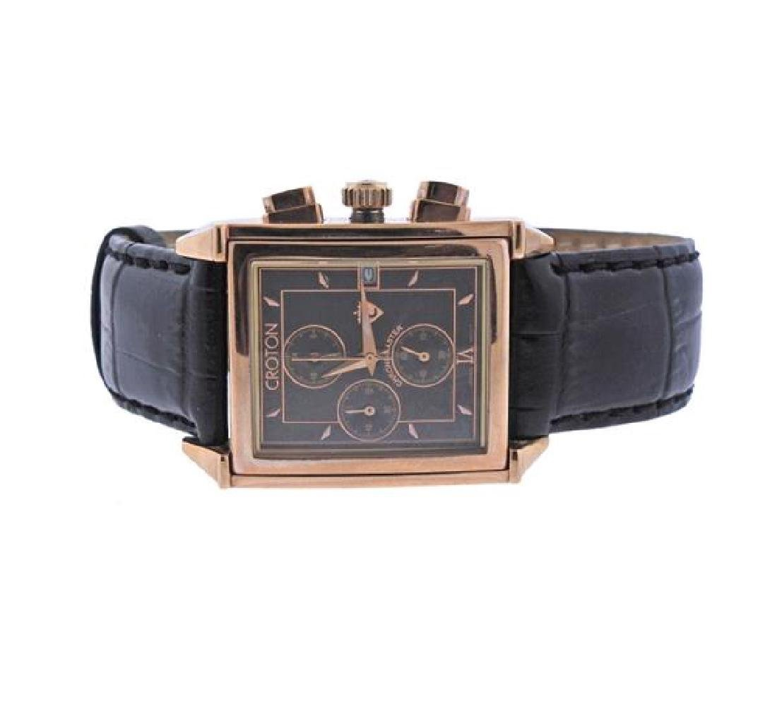 Croton Chronomaster Rose Tone Steel Watch