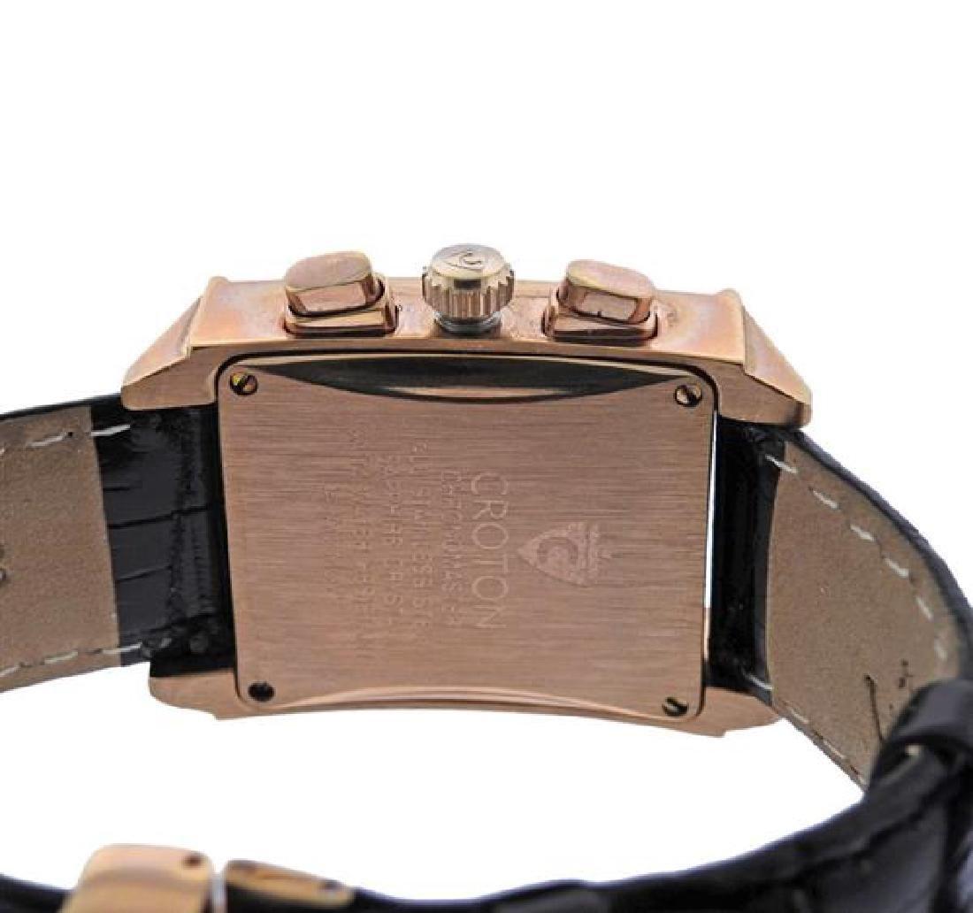 Croton Chronomaster Rose Tone Steel Watch - 3