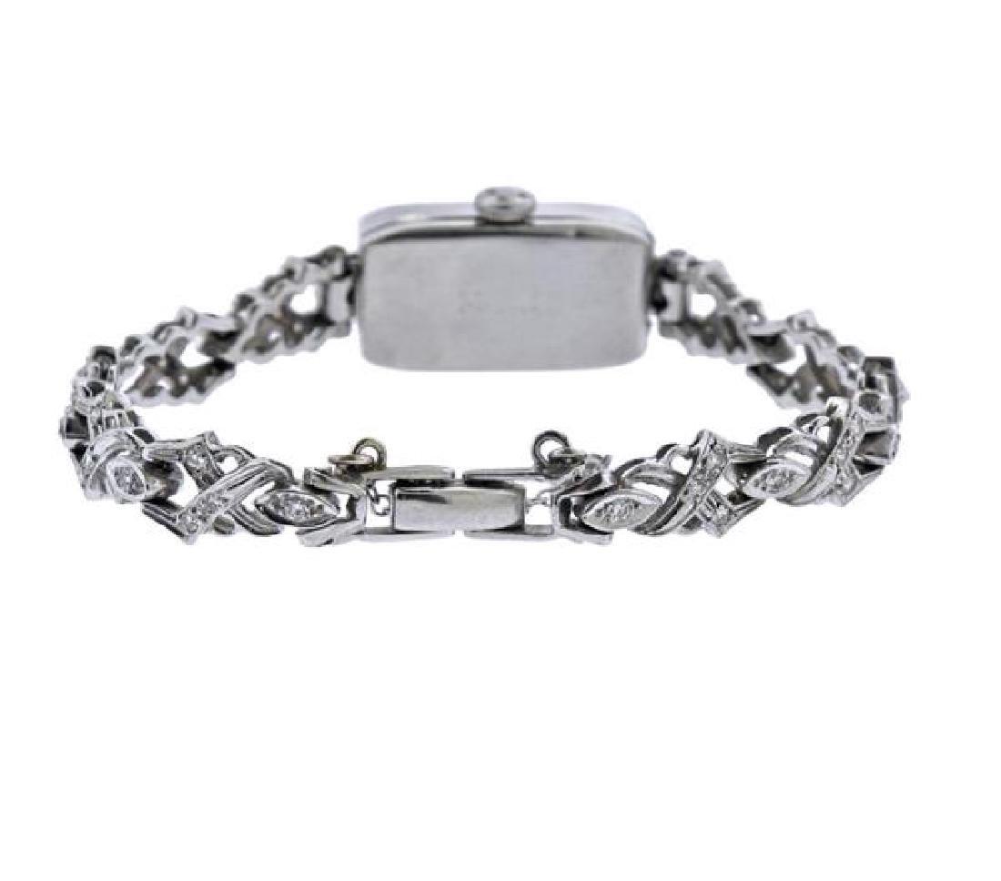 Art Deco Cartier Movado Platinum Gold Diamond Watch - 2