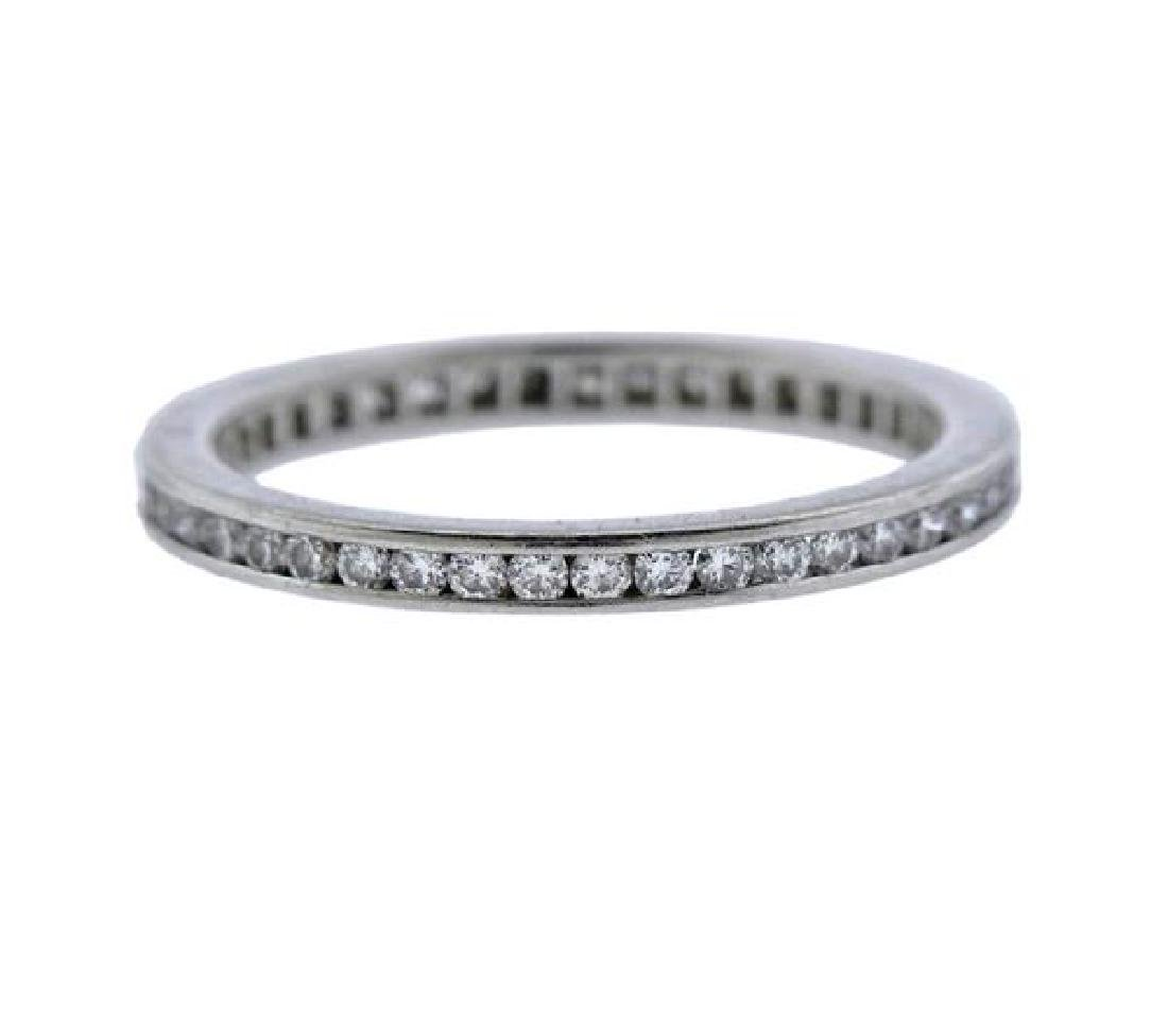 Cartier Platinum Diamond Eternity Wedding Band Ring