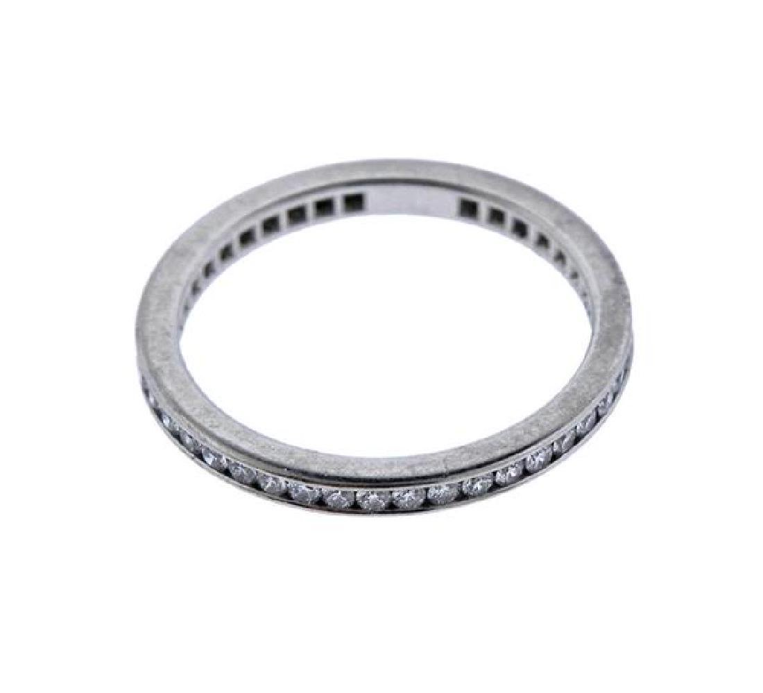Cartier Platinum Diamond Eternity Wedding Band Ring - 2