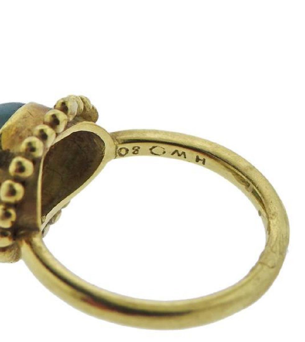 Helen Woodhull 18k Gold Green Tourmaline Ring - 2