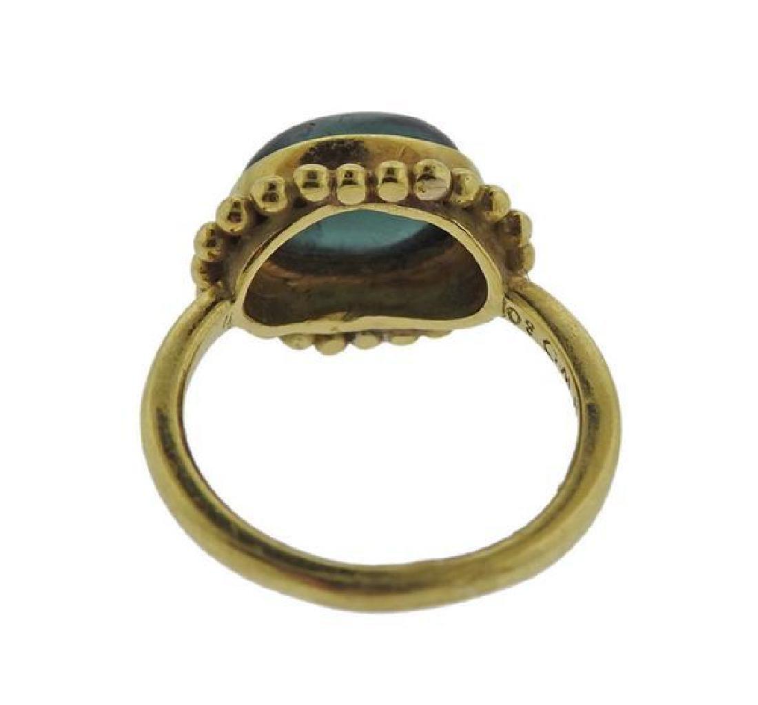 Helen Woodhull 18k Gold Green Tourmaline Ring - 3