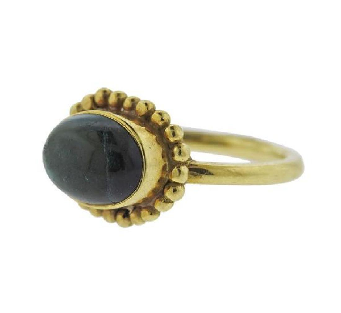 Helen Woodhull 18k Gold Green Tourmaline Ring - 4