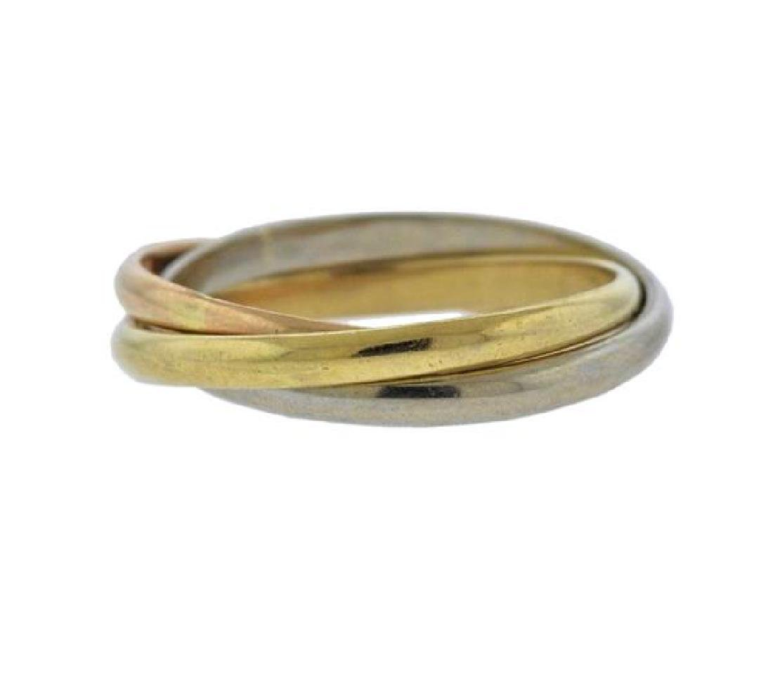 Cartier Trinity 18K Tri Color Gold Ring