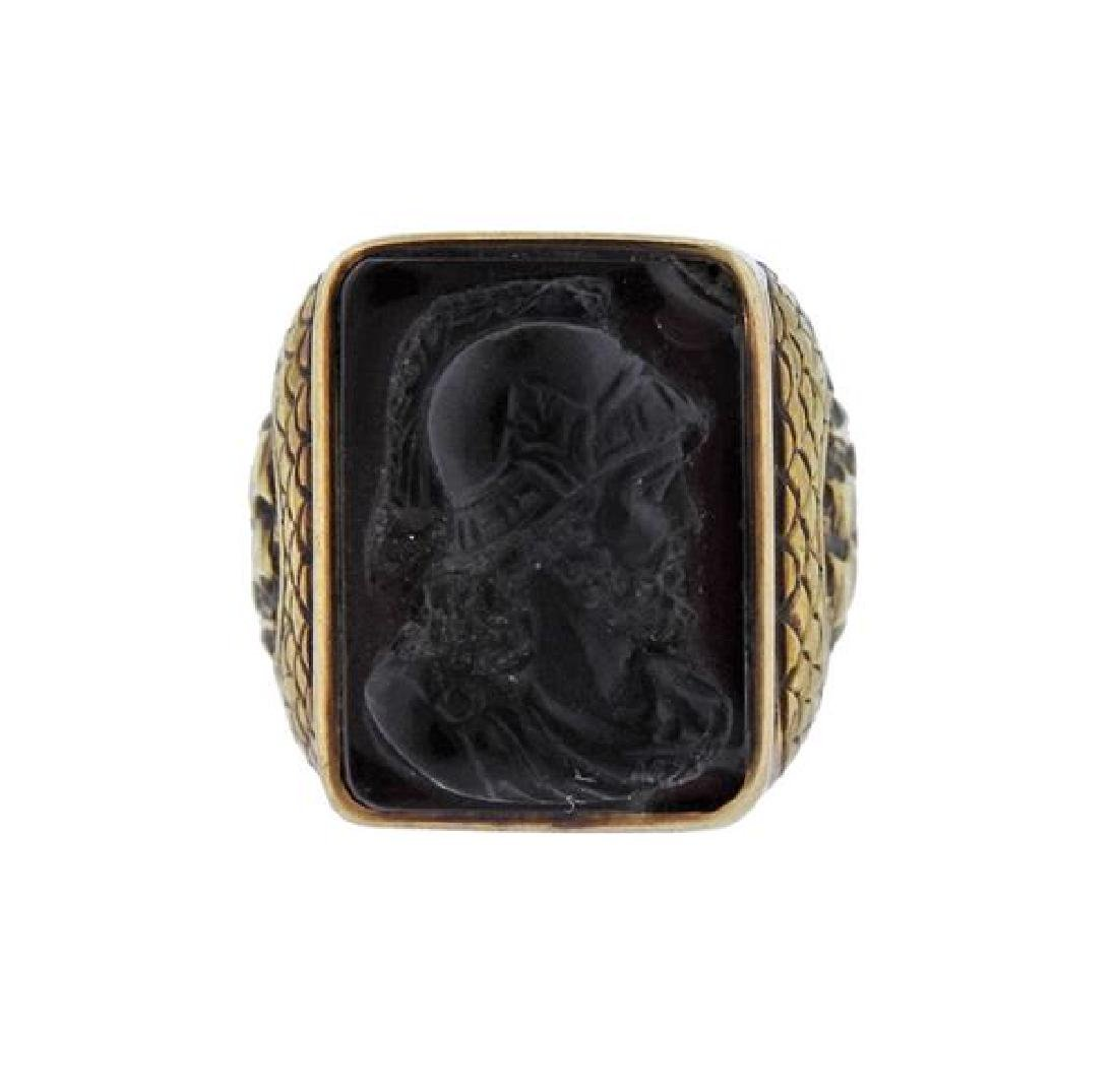Antique 14K Gold Carnelian Cameo Ring
