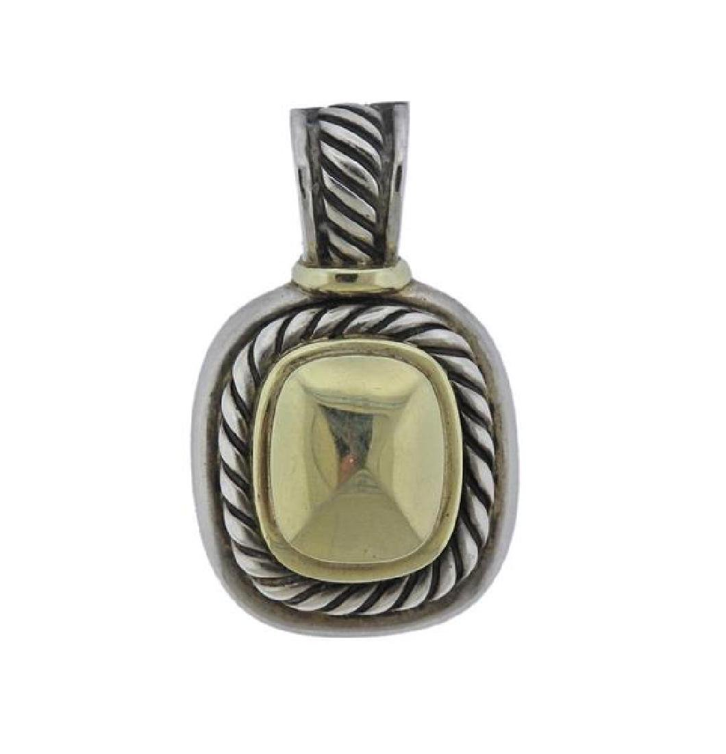 David Yurman 14K Gold Sterling Albion Pendant