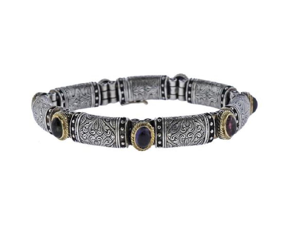 Konstantino 18K Gold Sterling Colored Gemstone Bracelet