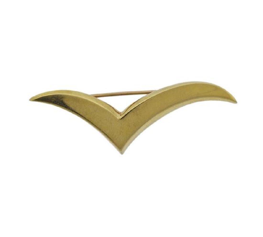 Tiffany & Co 18K Gold Seagull Brooch Pin