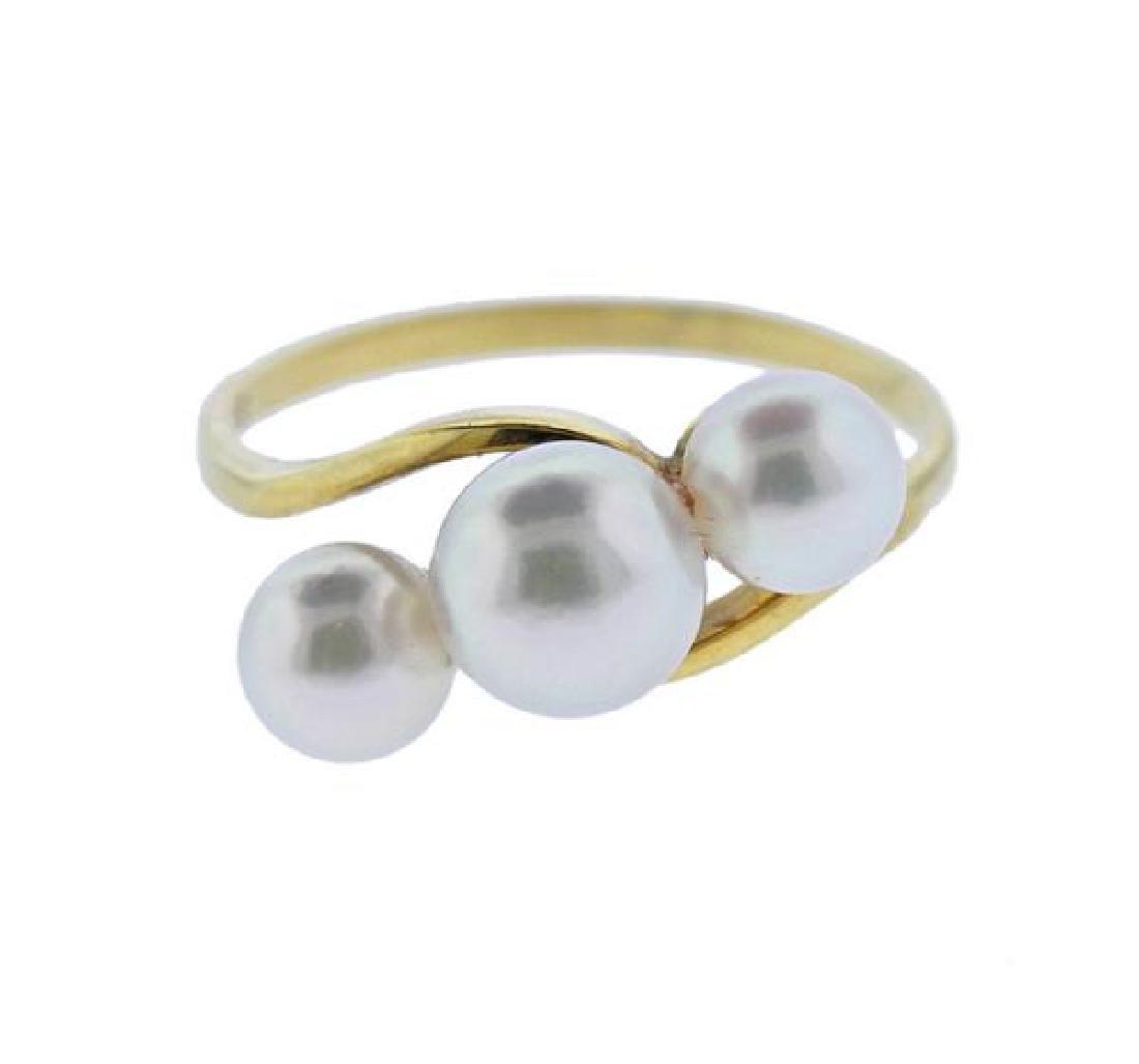 Mikimoto 18K Gold Pearl Ring