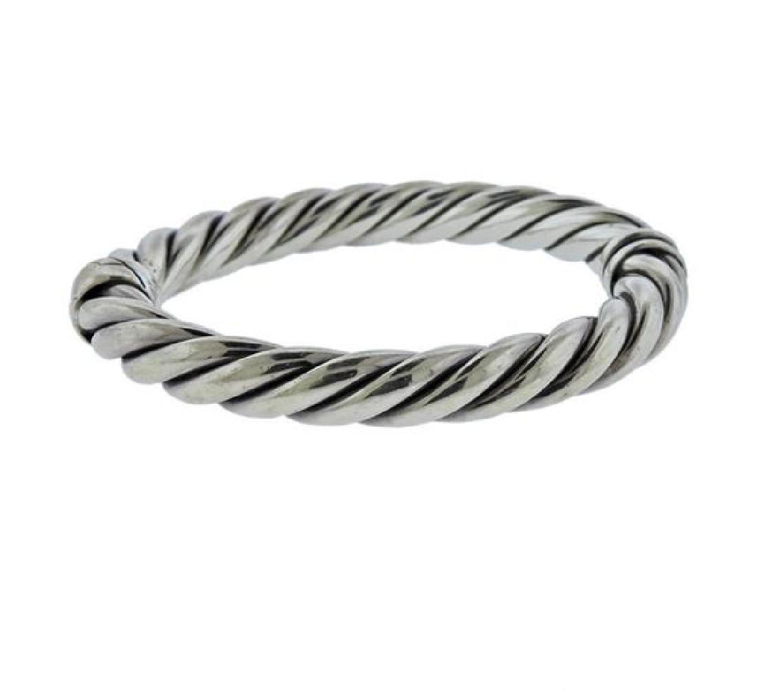 David Yurman Sterling Silver Cable Bracelet